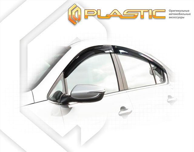 Window visors (Classic translucent) Kia Cerato sedan